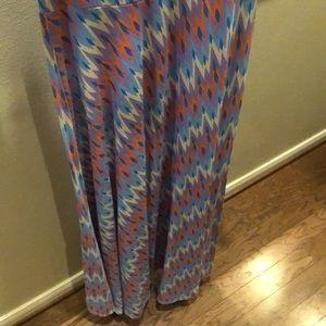 LuLaRoe Dresses - Floor length colorful pattern maxi dress